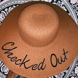 """Forever21 """"Checked Out"""" Sunhat"""